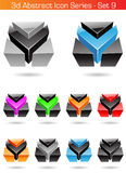 3d Abstract Icon Series - Set 9. Vector EPS illustration of 3d Abstract Icon Series - Set 9 Stock Image