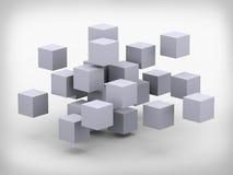 3d abstract kubussenontwerp Royalty-vrije Stock Afbeeldingen