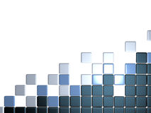 3d abstract levels background. Mosaic tile Royalty Free Stock Photography