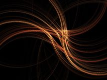3D abstract light rays. Abstract fractal background. Computer generated graphics. Fire motion abstract Stock Images