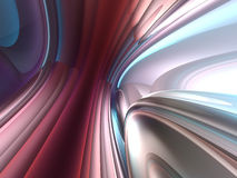 3D Abstract Lines Color Render Background. 3D Abstract Lines Red Purple Silver Render Background Stock Photos