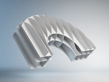 3D abstract maquette Stock Photo