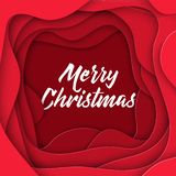 3D Abstract Merry Christmas Paper Style, Design Layout For Business Presentations, Flyers, Posters, Prints, Decoration, Cards Stock Photography