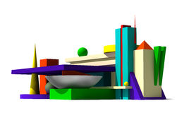 3D abstract model Royalty Free Stock Images
