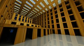 3d abstract modern architecture interior Royalty Free Stock Photography