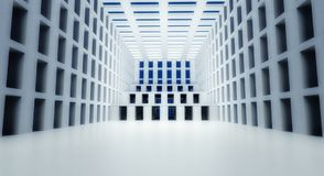 3d abstract modern architecture interior Stock Images