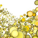 3d abstract multiple yellow bubble. 3d render abstract multiple yellow bubble backdrop Royalty Free Stock Images