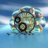3D Abstract Objects. 3D  Presentation Graphic, Glass Objects Stock Photo