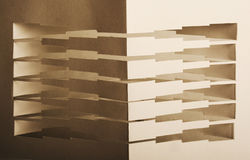 3d abstract paper composition Stock Images