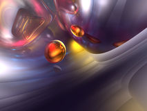3D Abstract Purple Red Orange Color Glossy Render Stock Images