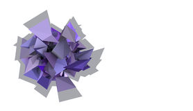 3d abstract purple spiked electric shape. Abstract purple spiked electric shape Stock Photography