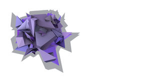 3d abstract purple spiked electric shape Stock Photo