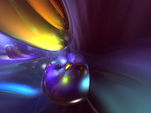 3D Abstract Purple Yellow Blue Color Background Stock Image