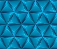 3d Abstract seamless background with blue triangle Stock Images