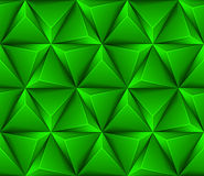 3d Abstract seamless background with green triangl. Es Vector illustration in eps10 Royalty Free Stock Photos