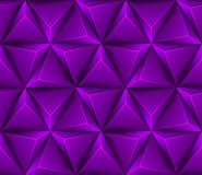 3d Abstract seamless background with purple triang Stock Image