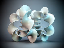3D abstract shape. 3D organic curve - abstract shape Royalty Free Stock Image