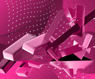 3D abstract shiny design. 3D abstract shiny illustration design Stock Photo