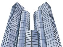 3d abstract skyscrapers Stock Image