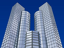 3d abstract skyscrapers Royalty Free Stock Photography