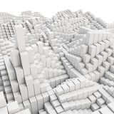 3d abstract smooth white metallic cubes background. Blocks Royalty Free Stock Image