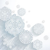 3D Abstract Snowflakes. Vector illustration Royalty Free Illustration