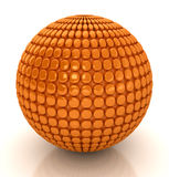 3d abstract sphere. 3d abstract orange sphere. Computer generated image Stock Image