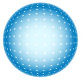 3d abstract sphere. Abstract sphere on white background Stock Images