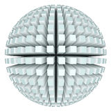 3d abstract sphere. On the white background Stock Photography