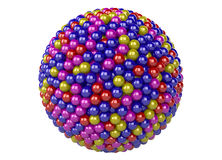 3d abstract sphere. 3d abstract background of different color spheres Royalty Free Stock Photos