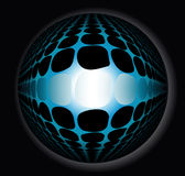 3d abstract sphere. 3d abstract blue sphere on a black background Stock Images