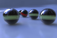 3d abstract spheres. Abstract spheres with depth of field effect Stock Image