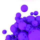 3d Abstract Spheres. 3d rendering purple Abstract Spheres on white background Royalty Free Stock Images