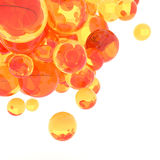 3d Abstract Spheres. 3d rendering orange Abstract Spheres Stock Images