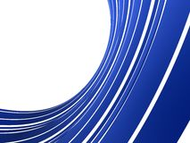3d abstract stream. 3d rendered illustration of an abstract blue background Royalty Free Stock Photography