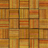 3d abstract striped tile backdrop in orange yellow Stock Photography