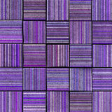 3d abstract striped tile backdrop in purple lavender Stock Image