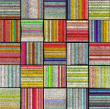 3d abstract striped tile backdrop in rainbow color Royalty Free Stock Images