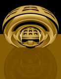 3d abstract techno brass Stock Photo