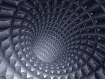 3d abstract tunnel. Of blue color Stock Photography