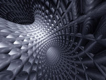 3d abstract tunnel. Of grey color Royalty Free Stock Image