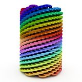 3d abstract twisted cylinder Royalty Free Stock Photography