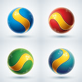 3d abstract vector design element set. Stock Image