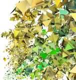 3d abstract yellow green backdrop. 3d render abstract yellow green fragmented backdrop Stock Photography