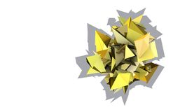 3d abstract yellow spiked electric shape. Abstract yellow spiked electric shape Royalty Free Stock Photos