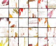 3d abstracte de tegelachtergrond van de graffiti witte borstel Stock Afbeeldingen