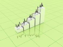 3d abstracte grafiek Stock Afbeelding