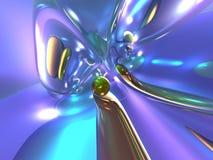 3D Abstracte Kleurrijke Glanzende Kleurrijke Purpere Glanzend Stock Afbeelding