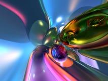 3D Abstracte Kleurrijke Roze Achtergrond van het Behang Stock Fotografie