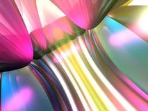 3D Abstracte Lijnen kleuren Roze Geel teruggeven Stock Foto